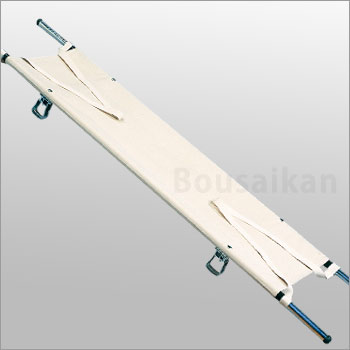 伸縮二ツ折担架(スチール製 2つ折り たんか ベッド 搬送 救急)