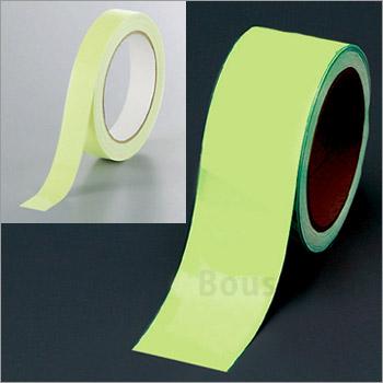 中輝度蓄光式テープ50mm幅×10m巻No:824-51(ユニット 避難誘導)