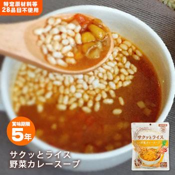 アルファー食品「サクッとライス 野菜カレースープ」190g×4個