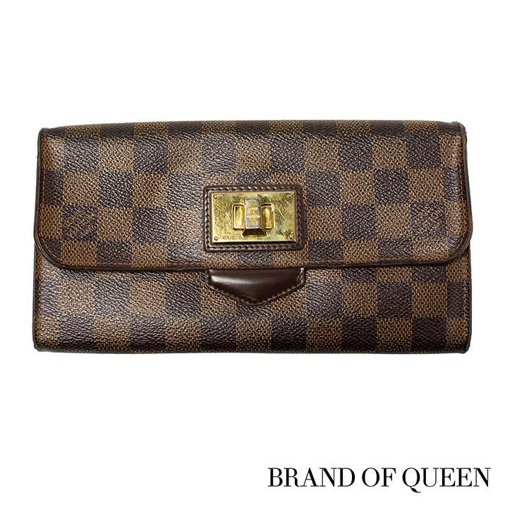 28f4ea9cfab77 Authentic Louis Vuitton Damier Portefeuille Rosebery Long Wallet N63017