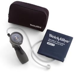 【キャッシュレス5%還元】ウェルチアレン 血圧計デュラショック DS66 ハンド型 5098-27★成人用(中)カフ、ソフトケースセット