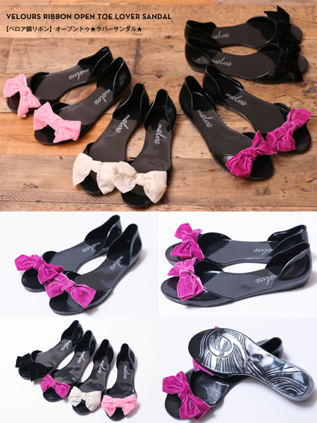 Open to ★ rubber sandals ★ rubber sandals and large velour Ribbon duo ★ popular tasty ★ rubber series 10P04Aug13
