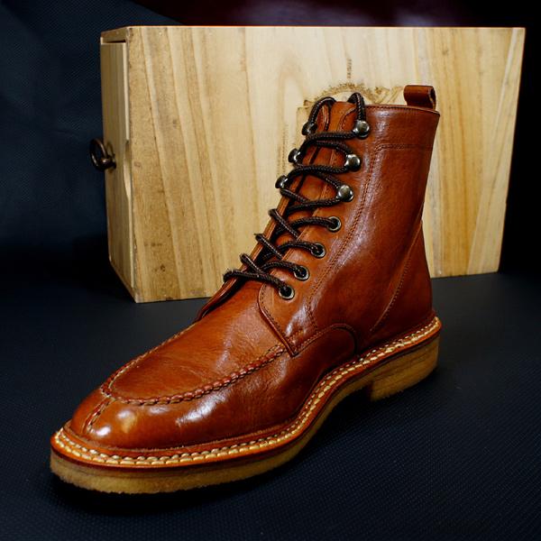 マークブーツ・モカ ブーツ 完全オーダーメイド 特許製法、プラット式グッドイヤーウエルト、まるでスニーカーの履き心地!(お仕立て期間約1ヶ月)