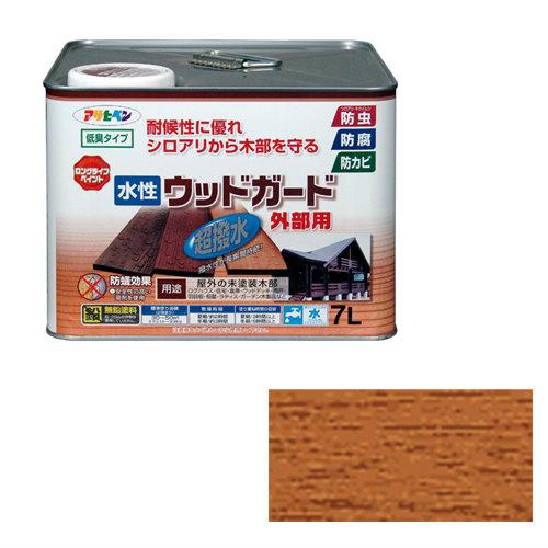 【あす楽対応・送料無料】アサヒペン水性ウッドガード外部用7Lライトオーク 02
