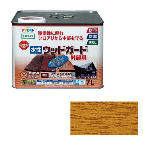 【あす楽対応・送料無料】アサヒペン水性ウッドガード外部用7Lパイン 15