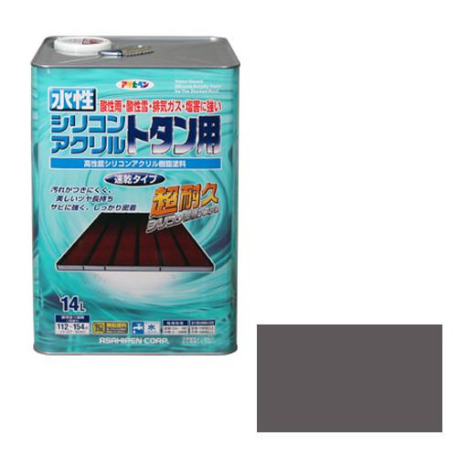 【あす楽対応】アサヒペン水性シリコンアクリルトタン用14Lグレー