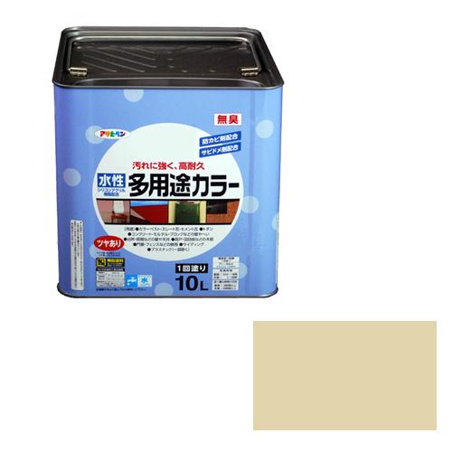 【あす楽対応・送料無料】アサヒペン水性多用途カラー10Lティントベージュ