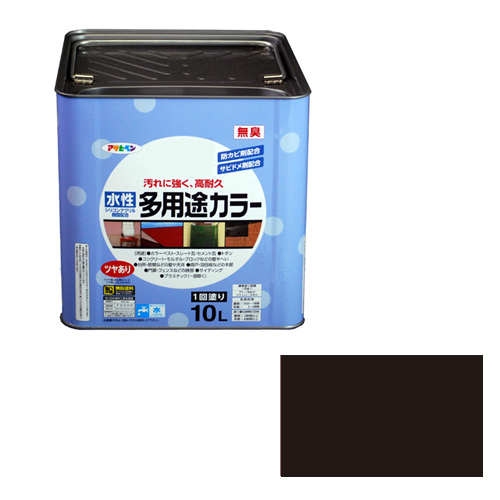 【あす楽対応・送料無料】アサヒペン水性多用途カラー10L黒