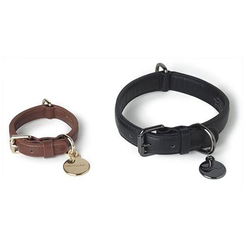 リードの革に合わせた上質な革製首輪 エレガントで機能的な首輪 HIGH5DOGS レザーカラー Sサイズ 全2色 迅速な対応で商品をお届け致します 新品未使用 胴輪 犬 革