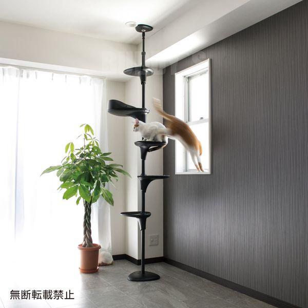 自由自在なキャットタワー♪  OPPO(オッポ) CatForest (キャットフォレスト) ブラック [正規品【猫 キャットタワー おしゃれ つっぱり】