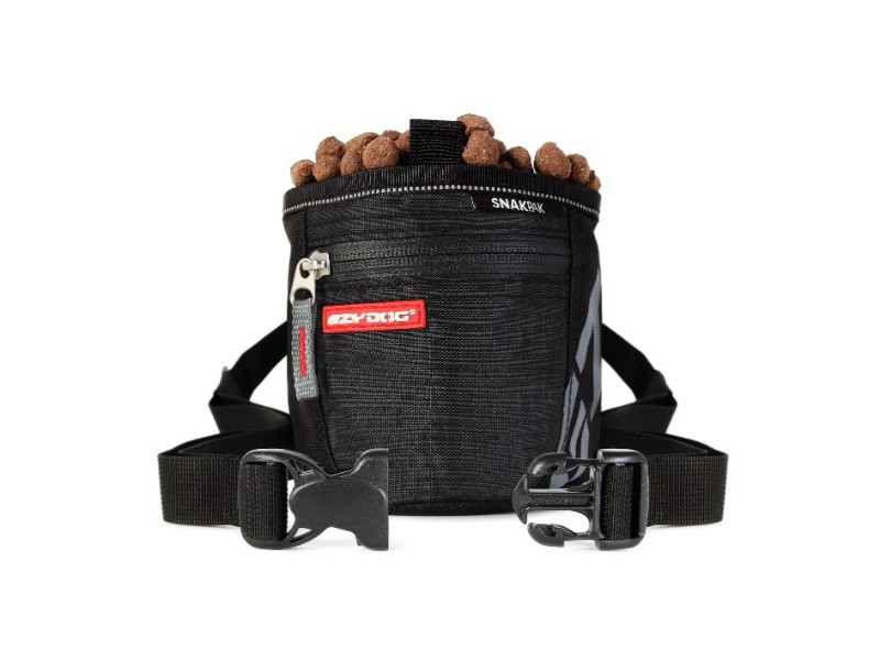 【メール便対応可】[ストラップ付の機能的な犬用トリーツバッグ] EZY DOG スナックパック ブラック 【犬/トリーツ/トレーニング】