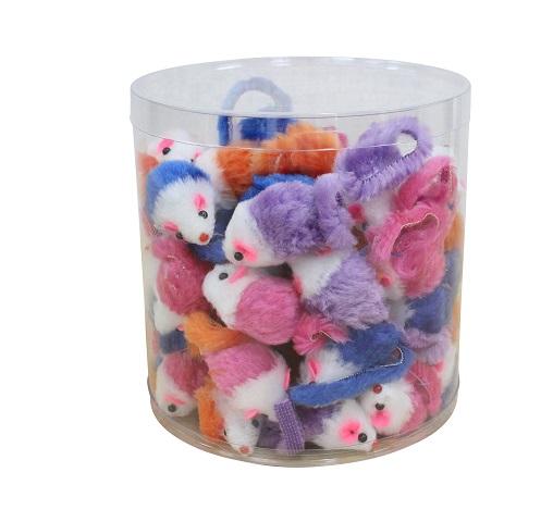 猫ちゃん定番おもちゃ ループ·ライトレーベル ミニマウス 60個入り【猫/おもちゃ/】