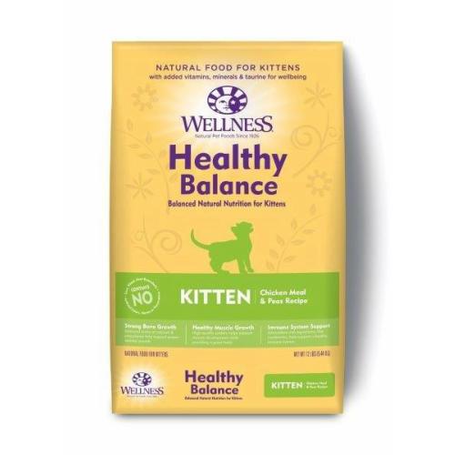 厳選した原材料のみを使用 ウェルネスヘルシーバランス 子猫用(離乳期~1歳) チキン 5.44kg wellness【猫/キャットフード/子猫】