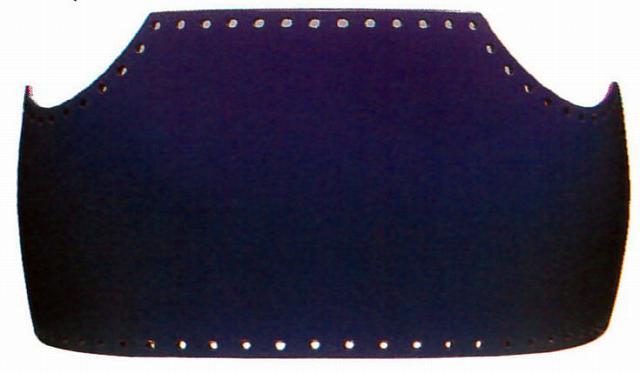 【3,980円以上のお買い上げで送料無料】送料無料 ファイバー胴変り塗(手塗) 紫塗 小