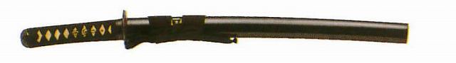 【3,980円以上のお買い上げで送料無料】送料無料 剣道形用(約1080g~小約680~) 二重紫人絹袋付超硬合金古刀仕上厚刃鎬造り 小刀~1.40尺