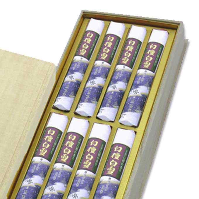 【「白檀白雪」のご進物用お線香】白檀白雪 桐箱 短寸8入[薫寿堂]線香
