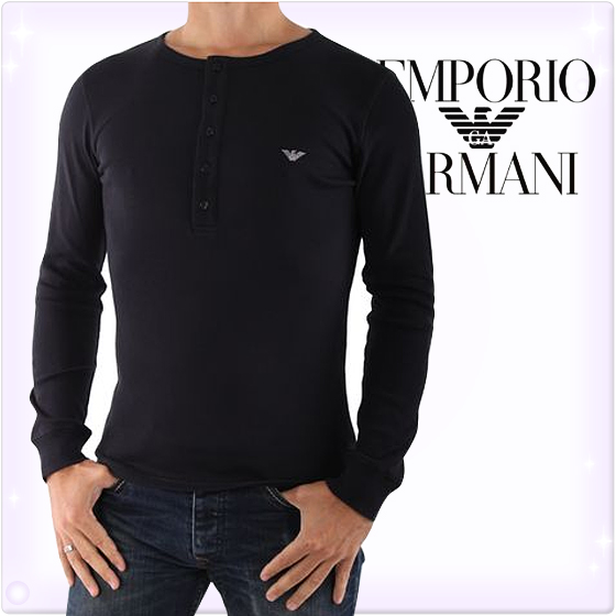 Armani Black Long Sleeve Shirt