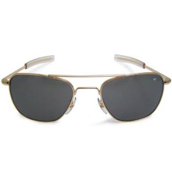 AO(アメリカン オプティカル)パイロット サングラス 52mm Gold [ミリタリー仕様][ストレート テンプル]【送料無料】