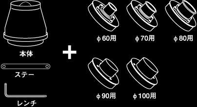 【ラッキーシール対応】期間限定、超特価!【GruppeM /グループ・エム】 スーパークリーナーφ80 汎用キット(パイプタイプ) SC-0185