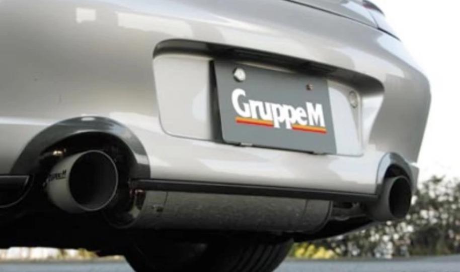 【GruppeM /グループ・エム】 ポルシェ 996 TURBO & CARRERA 4S 用マフラーエンドカバー MFCC-996T