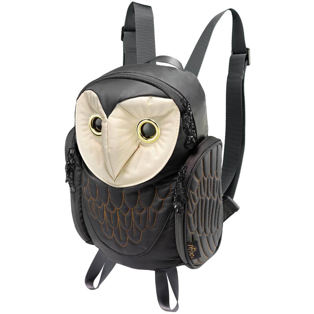 リュック MORN CREATIONS メンフクロウ バックパック レディース 動物バッグ 女性用 小さめ レディース リュックサック モーンクリエイションズ フクロウ ブラック