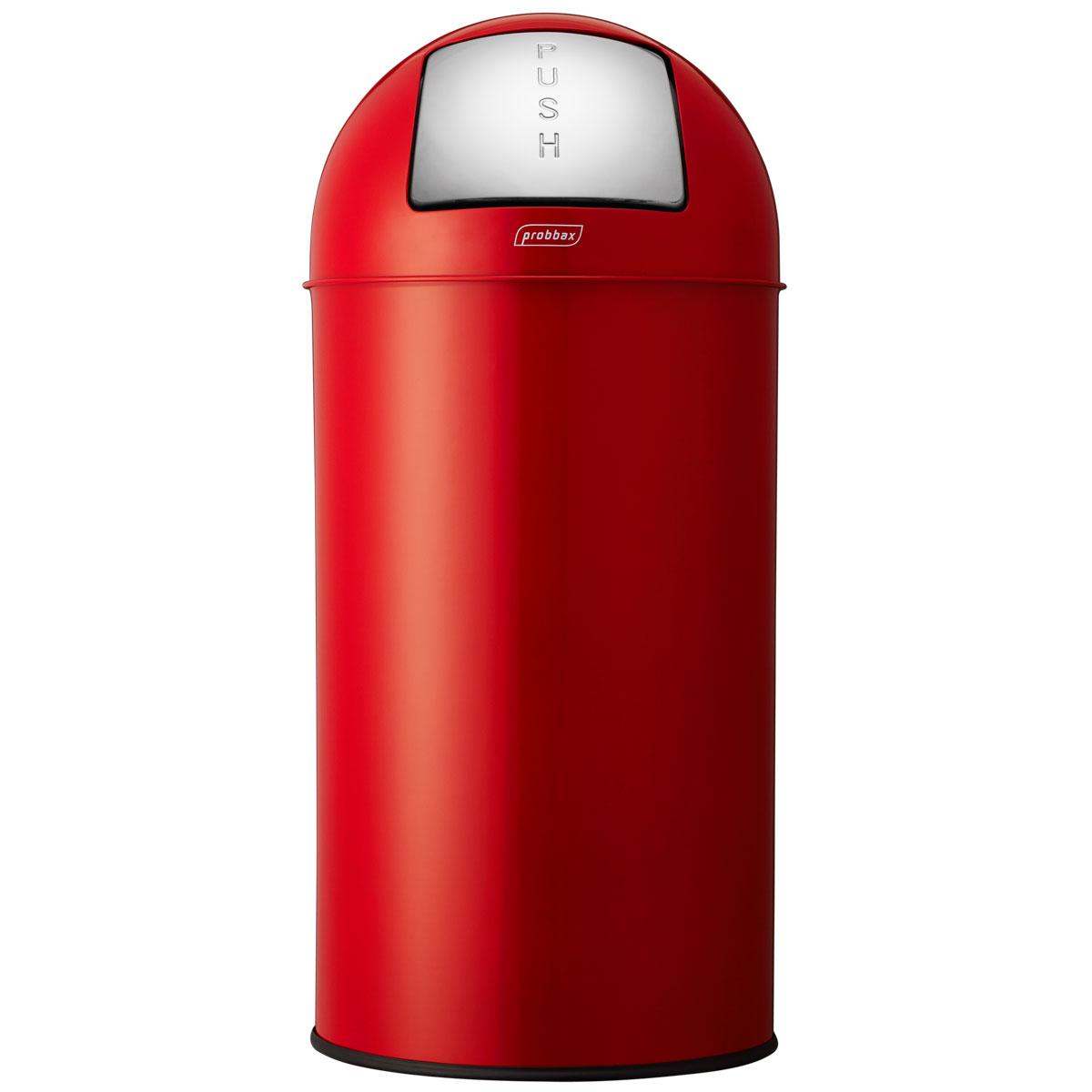ゴミ箱 プロバックス プッシュビン ダストボックス 業務用 ごみ箱 probbax ゴミ箱 PUSH BIN レッド
