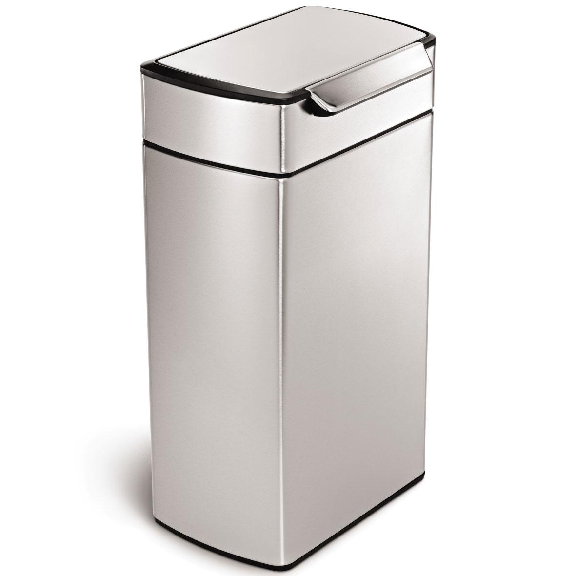 simplehuman ゴミ箱 タッチバーカン ふた付き ダストボックス ごみ箱 シンプルヒューマン 正規品 メーカー保証付き CW2014 レクタンギュラー 角型40L