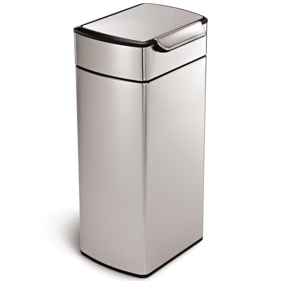 simplehuman ゴミ箱 タッチバーカン ふた付き ダストボックス ごみ箱 シンプルヒューマン 正規品 メーカー保証付き CW2015 レクタンギュラー 角型30L