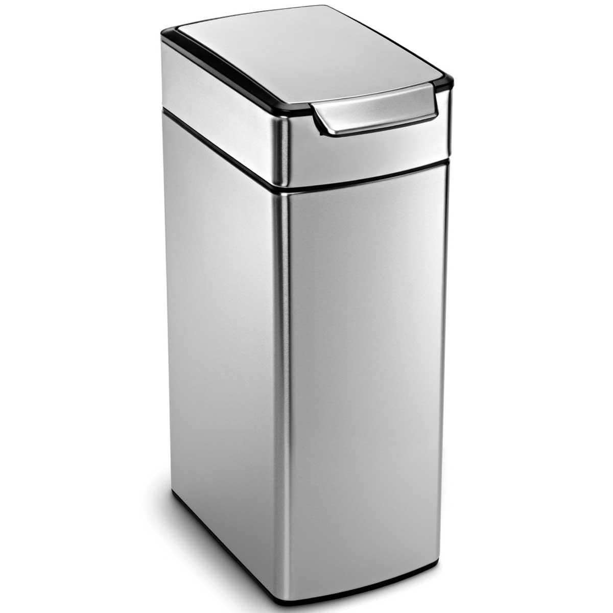【送料無料】simplehumanのゴミ箱、タッチバーカン ふた付き CW2016 スリム 角型40Lがおしゃれ! simplehuman ゴミ箱 タッチバーカン ふた付き ダストボックス ごみ箱 シンプルヒューマン 正規品 メーカー保証付き CW2016 スリム 角型40L