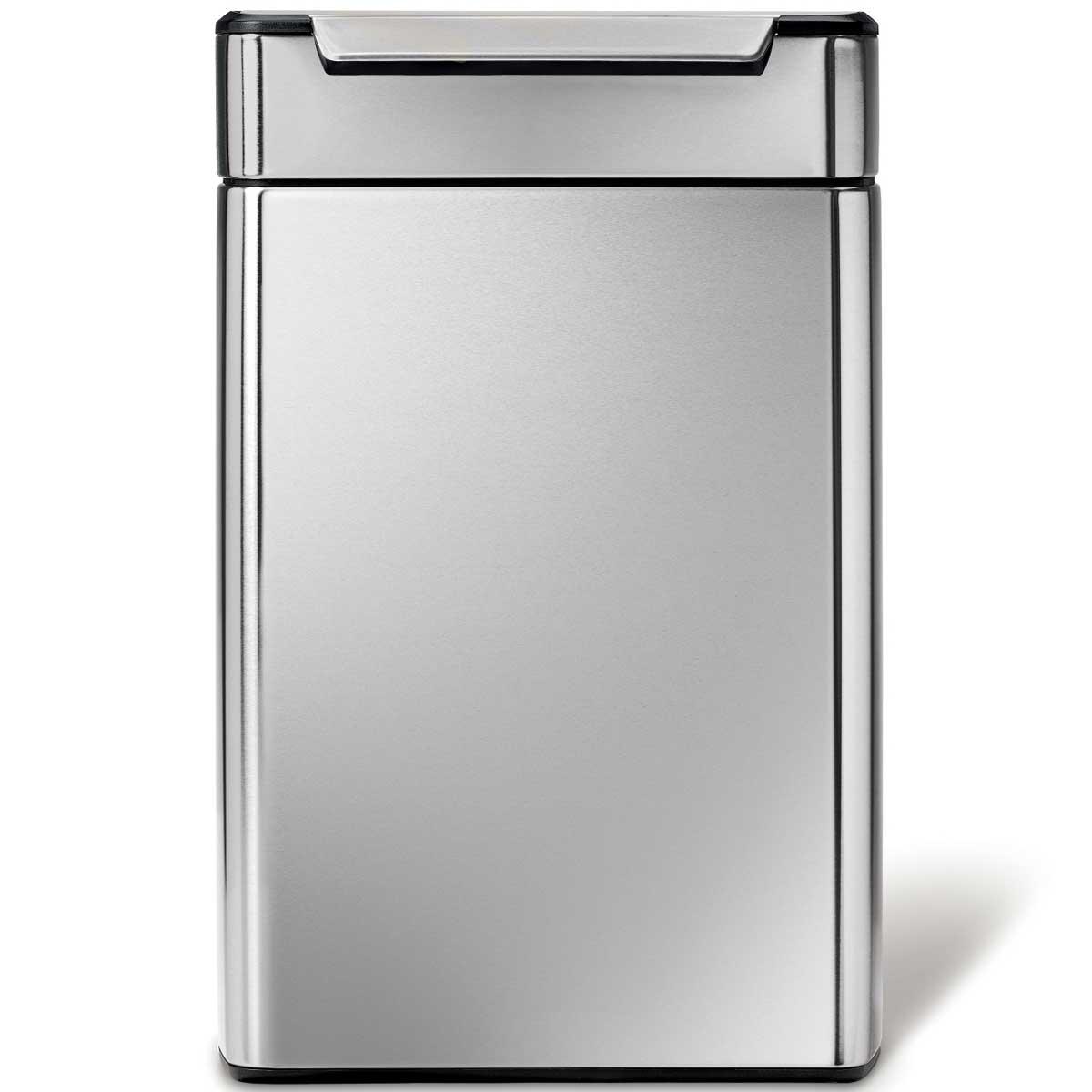 simplehuman ゴミ箱 タッチバーカン ふた付き ダストボックス ごみ箱 シンプルヒューマン 正規品 メーカー保証付き CW2018 分別 角型48L(24L/24L)