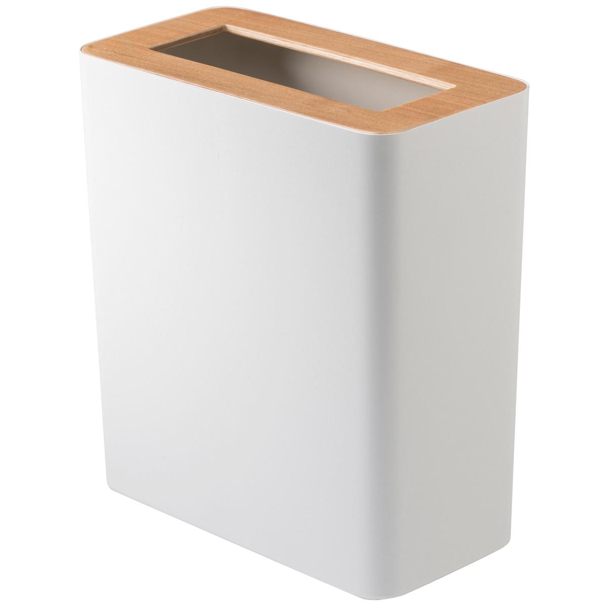 送料無料 山崎実業のゴミ箱 RIN セール特価 豪華な トラッシュカン 蓋付き 角型 ナチュラルがおしゃれ ゴミ箱 ナチュラル ダストボックス リン YAMAZAKI フタ付き 山崎実業 ごみ箱
