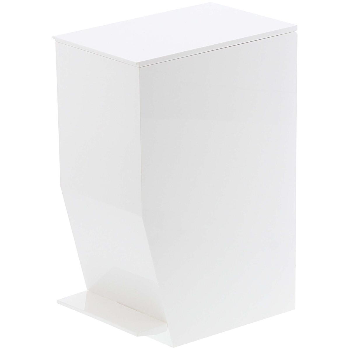 格安 価格でご提供いたします 3 980円以上で送料無料 山崎実業のゴミ箱 TOWER ペダル式トイレポット 予約 ふた付き おしゃれ ホワイトがおしゃれ タワー ゴミ箱 ダストボックス ホワイト YAMAZAKI 山崎実業 ごみ箱