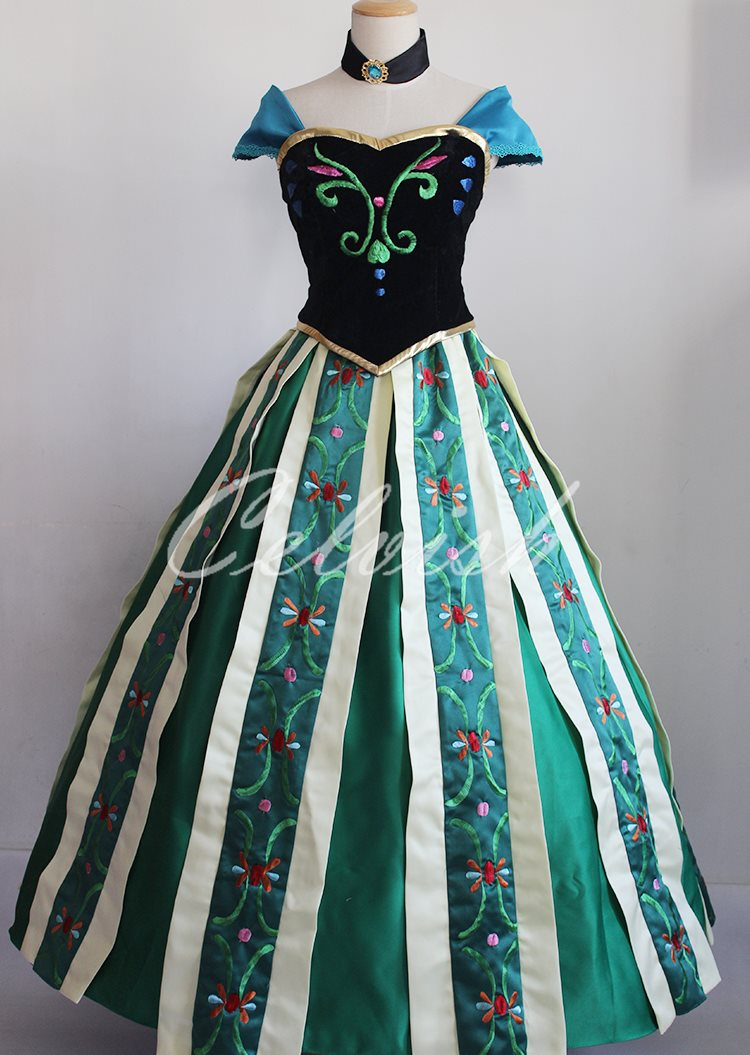 アナと雪の女王 アナ 風 ドレス ディズニー ハロウィン コスプレ ドレス プリンセスドレス コスプレ衣装 パーティー  cl,2923D027 celvishup