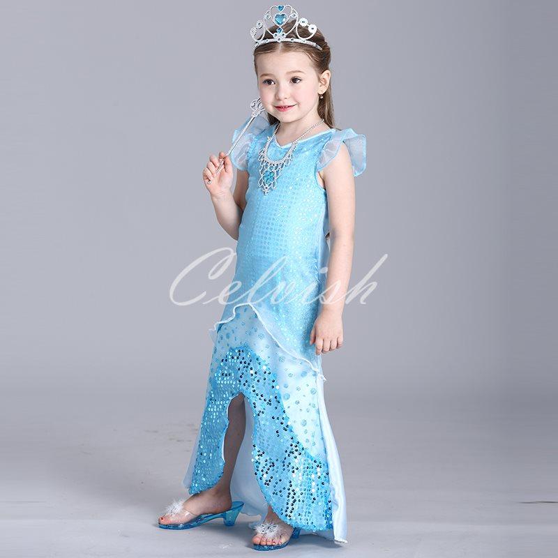 478e74e96fb27 ハロウィンコスプレドレスリトルマーメイド風アリエルプリンセスドレス子供ドレス衣装C-28548080