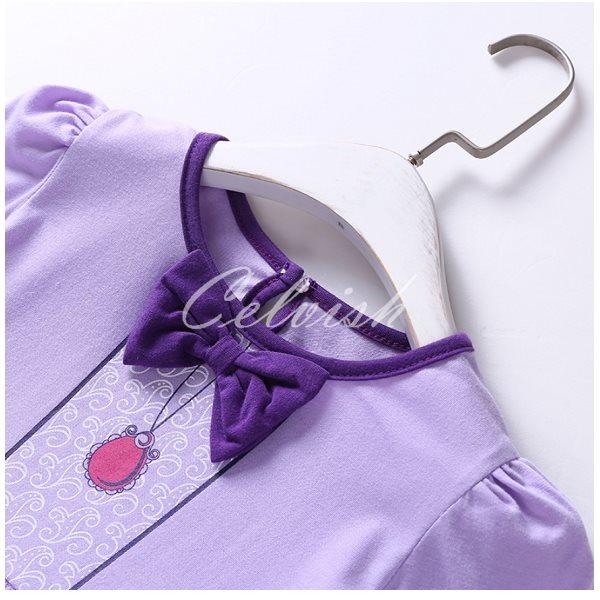 e9e400c419e99 ソフィア風長袖プリンセスドレスコスプレドレス子供ドレス衣装仮装C-2958L942