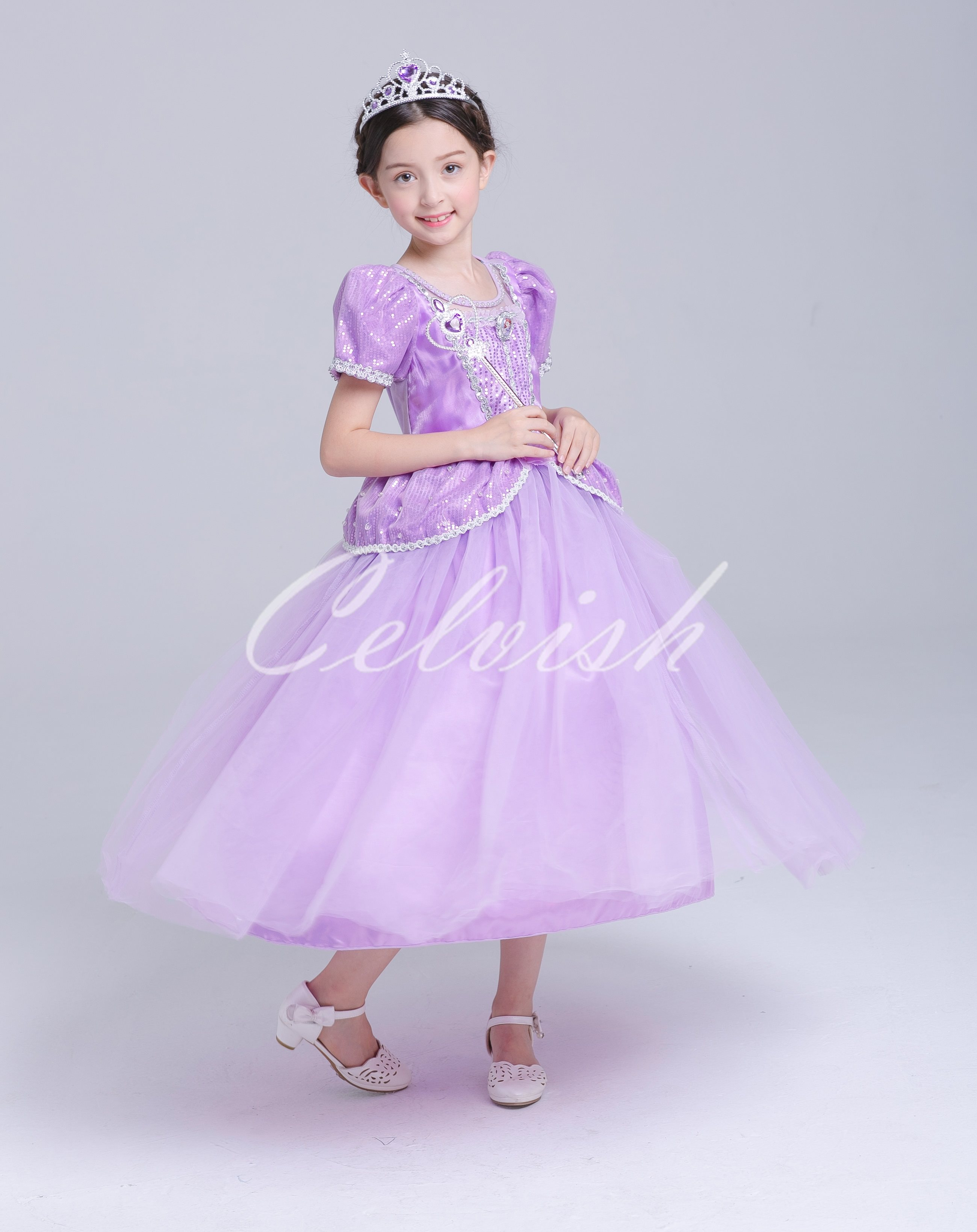 a4c2c199ccdbd ディズニーコスプレドレスソフィア風プリンセスドレス子供ドレス衣装USJC-2958S7293