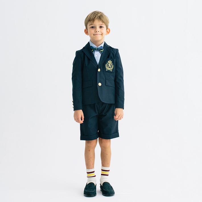 SMOOTHY スムージー 紺ブレセットアップスーツ ショート 01setup-08 子供服 ブランド キッズ 七五三 入園 入学 ジャケット ショートパンツ 上下セット 2ピース