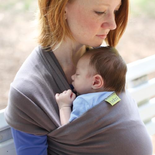 抱っこひも 新生児 ボバラップ オーガニック ベビーラップ boba 縦抱き抱っこ紐(オーガニックダークグレー)(オーガニックダークグレー)(オーガニックダークグレー)