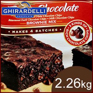 GHIRADELLI CHOCOLATE 기 라 델리 브라 우 니 믹스 브라 우 니 초콜렛 ジラデリ 트리플 초콜릿 2.26 kg 4 봉지