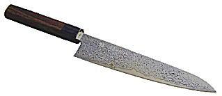 左近白梅 ダマスカス ダイス鋼割込牛刀 210mm