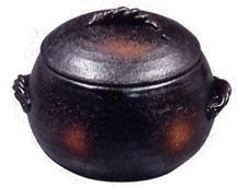 栗型ごはん炊き 黒 大 7合炊