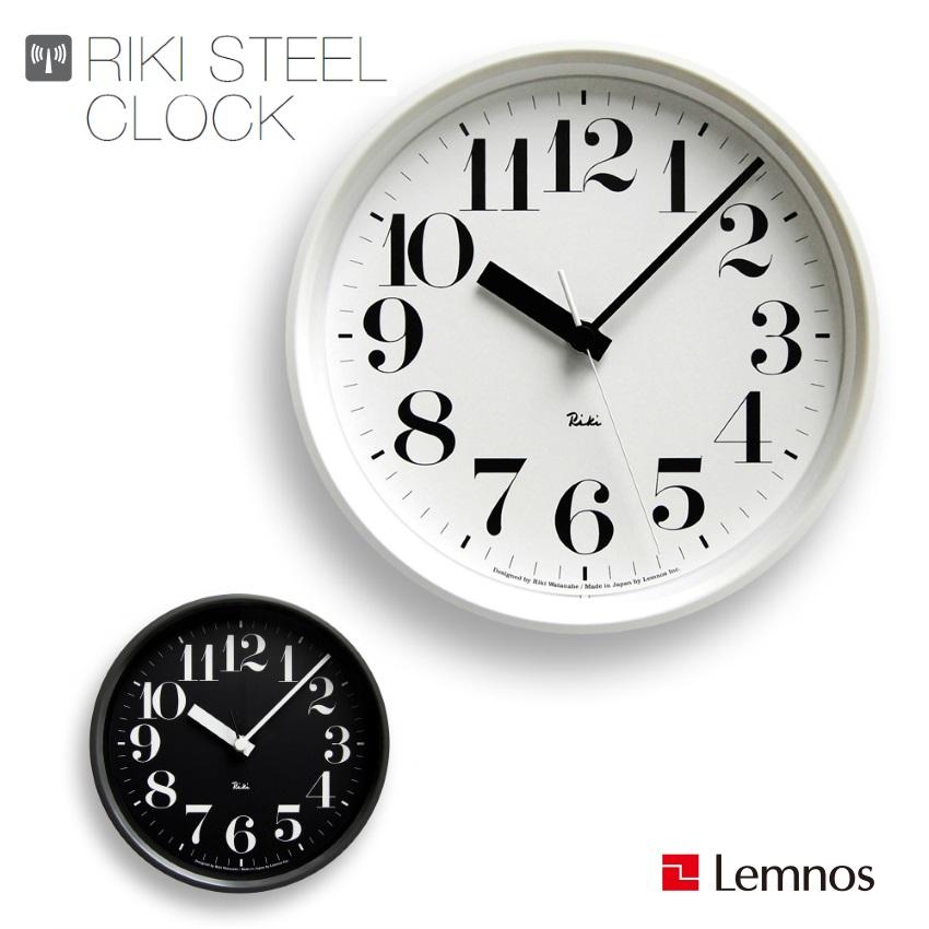 【送料無料】Lemnos/レムノス|WR08-25RIKI CLOCK/リキ クロック渡辺力|壁掛け時計|電波時計|プレゼント・贈答品 【ラッピングOK】【のしOK】