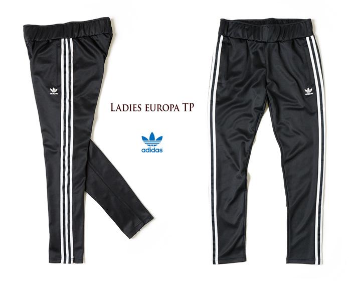 [아디다스 オリジナルス] 레이디스 유럽 트랙 팬츠 [블랙] 2015가을과 겨울 모델 저지 트랙 바지 adidas originals EUROPA TRACK PANTS