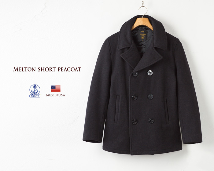huge discount huge inventory wide selection of colours and designs American short peacoat FIDELITY SHORT PEACOAT MADE IN USA p coat fidelity