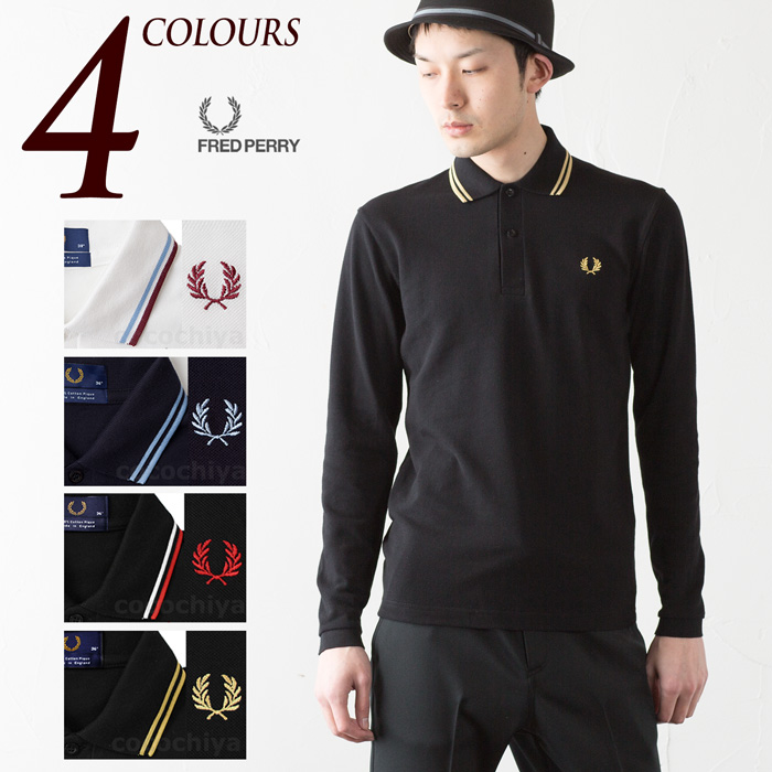 0d808f71 [Fred] made in England long sleeve polo shirt l/s TWIN TIPPED FRED ...