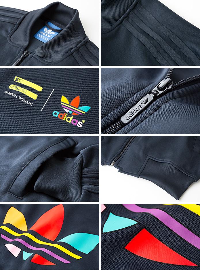 [아디다스 オリジナルス] 슈퍼 칼라 슈퍼 스타 트랙 탑 adidas Originals SUPER COLOR SUPER STAR TRACKTOP 패 럴 윌리암 저지 트랙 탑 AC5921