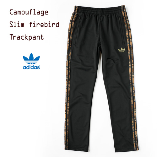 [아디다스 オリジナルス] 슬림 파이어 버드 트랙 팬츠 [리프 위장] S18725 adidas Originals SLIM FB TP AOP 저지 바닥