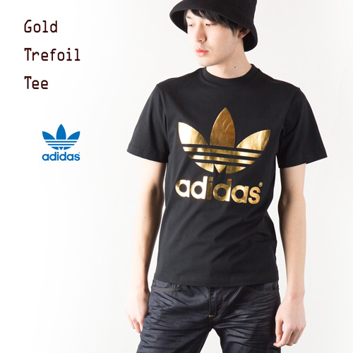 rose gold adidas trefoil tee