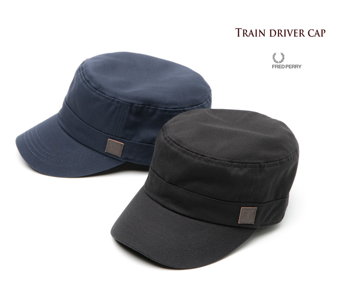 Fred Perry hats train driver cap FRED PERRY TRAIN DRIVER CAP Cap / de Gaulle Cap HW6622