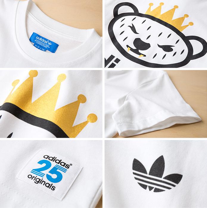 NIGO bear logo T shirt adidas originals NIGO BEAR LOGO Tee Shirt JKS56